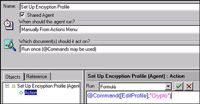 Creating the setup encryption profile agent