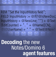 Decoding the new Notes/Domino 6 agent features