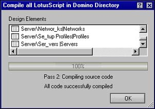 Recompile dialog box