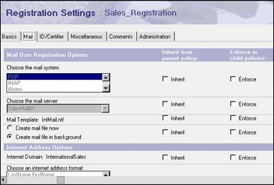 Registration Settings for Sales_Registration